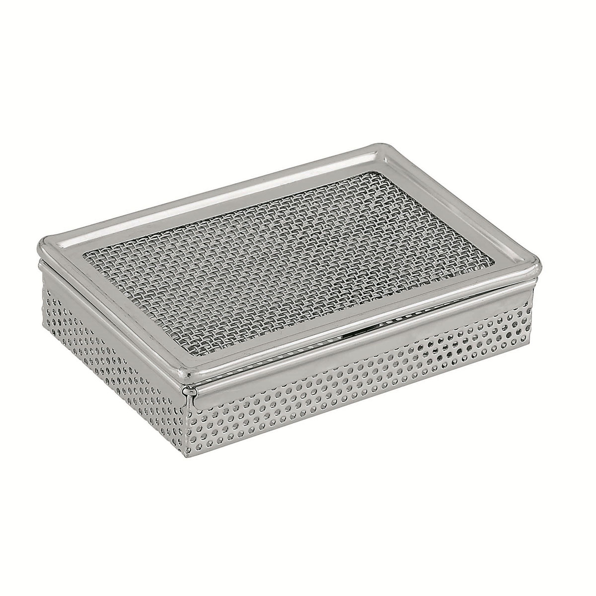 Trinket Box with Perforated Sides and Wire Mesh Lid Image