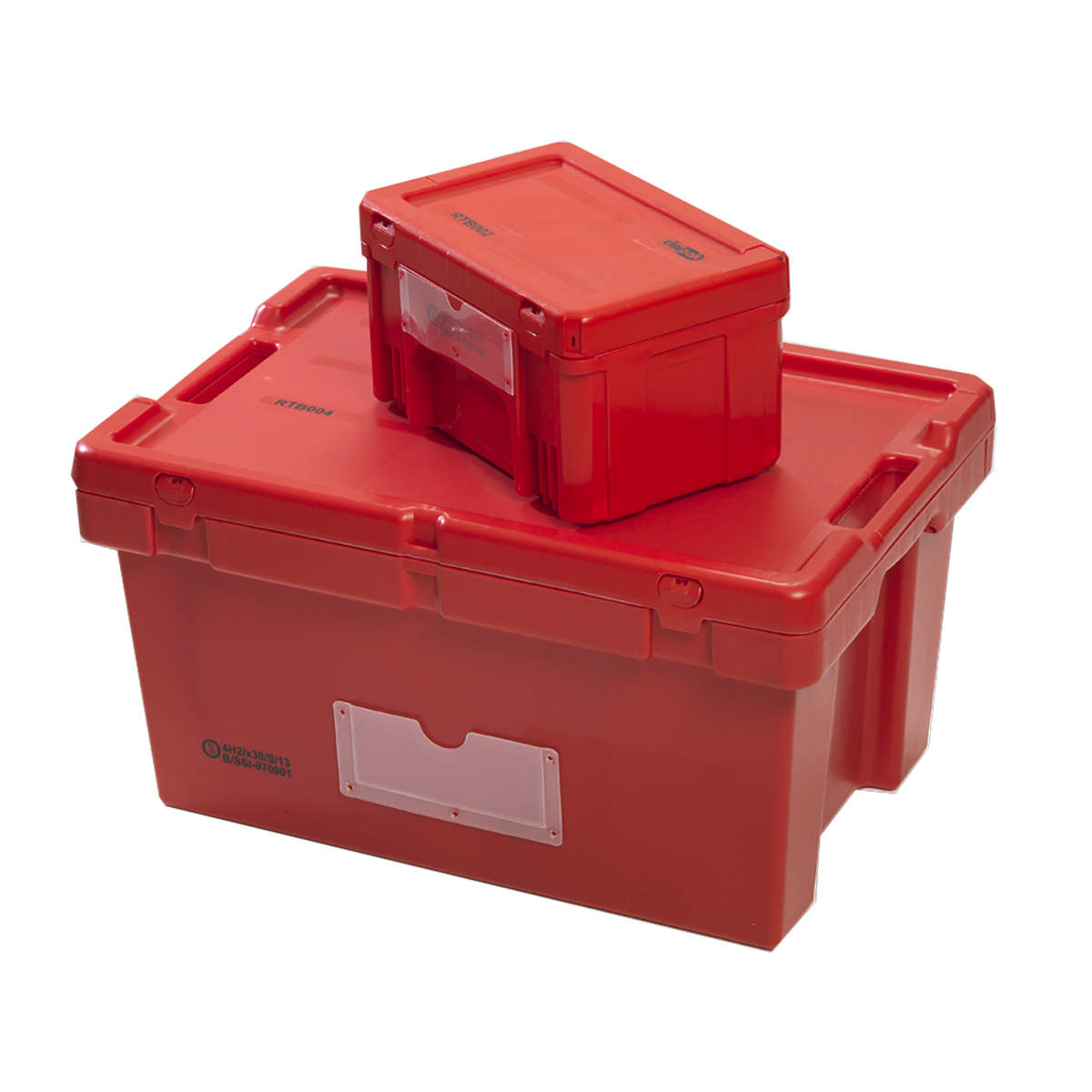 Red Transport Boxes Image