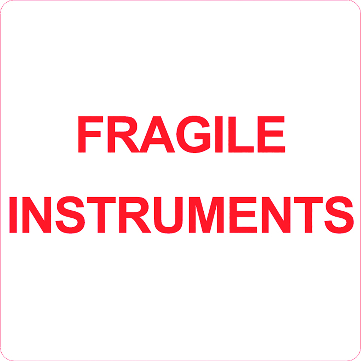 Fragile Instruments Alert Label  Image