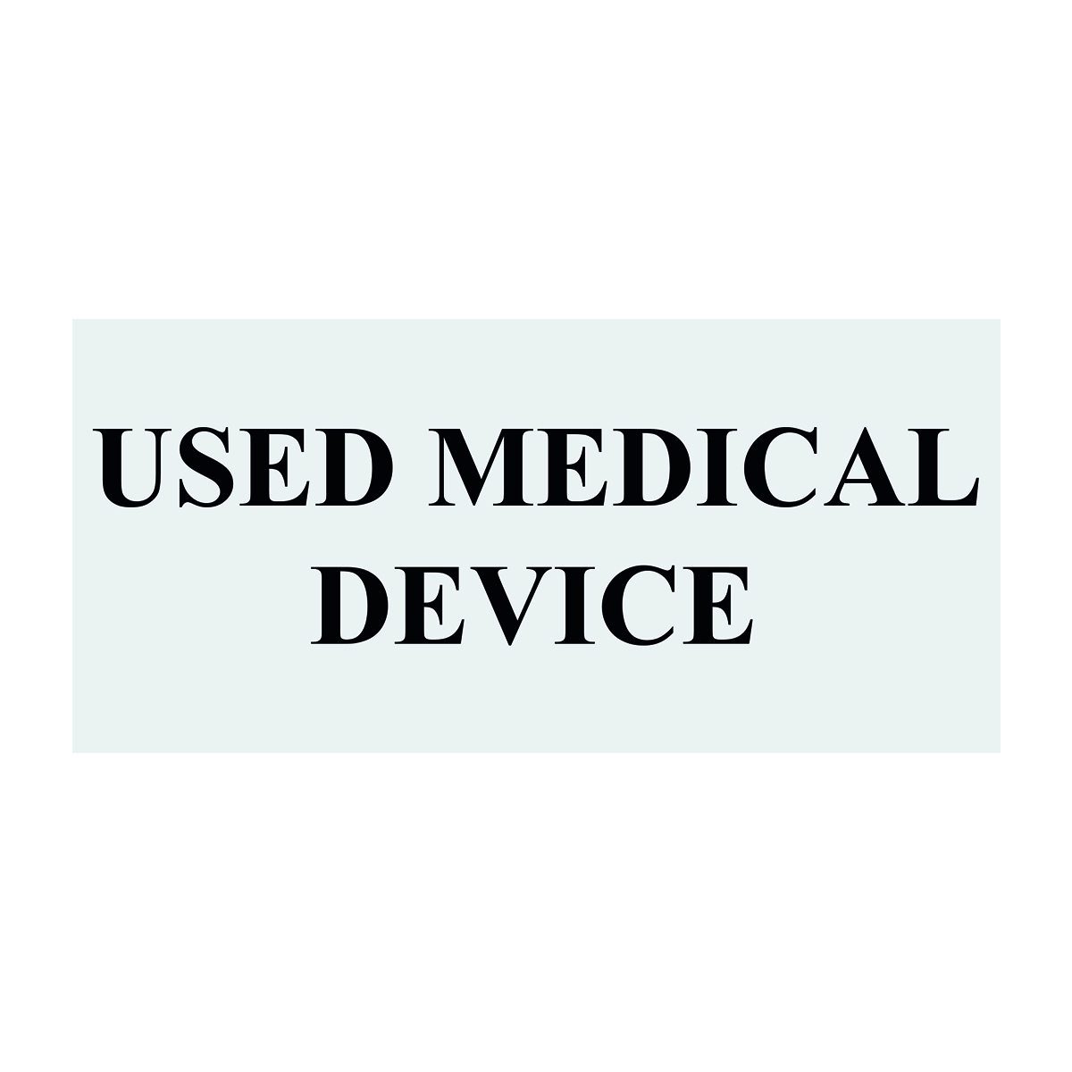 Used Medical Device Label Image