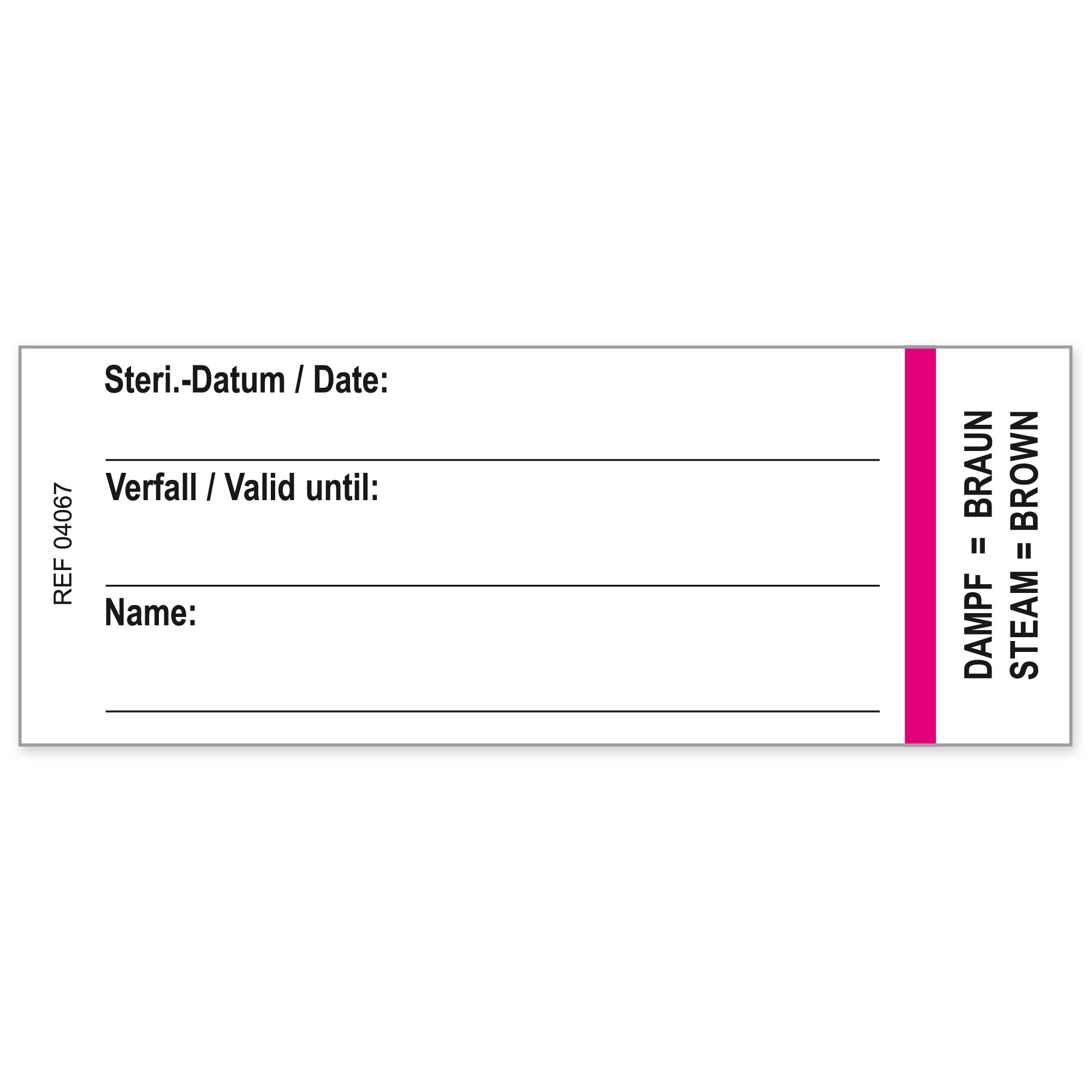Container labels for Geuder containers Image