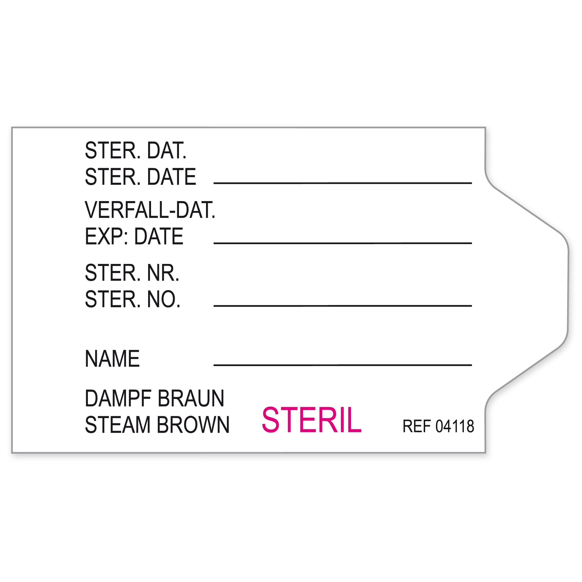 Container Labels for Aesculap Containers Image