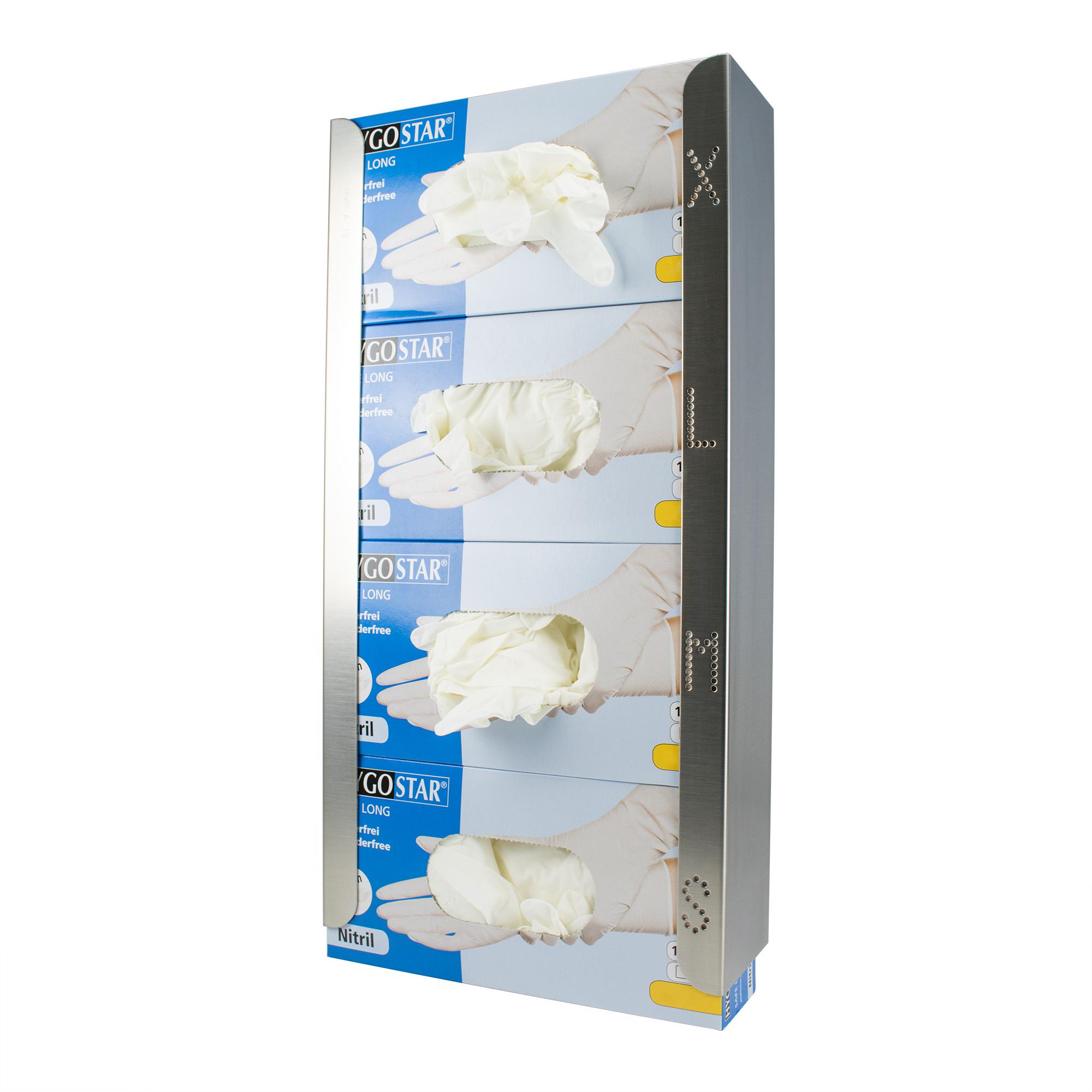 Edelstahlspender für Handschuhe Image