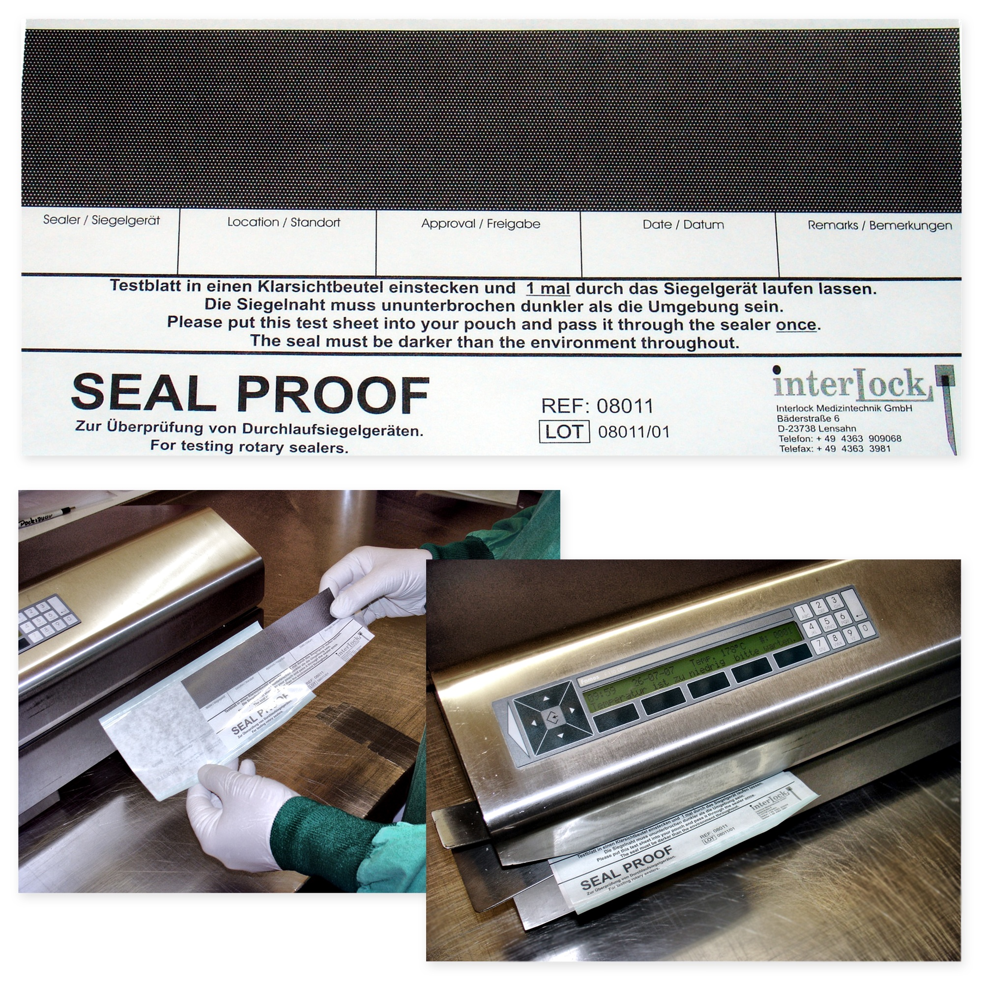 SEAL PROOF - for pouches made of paper / film Image