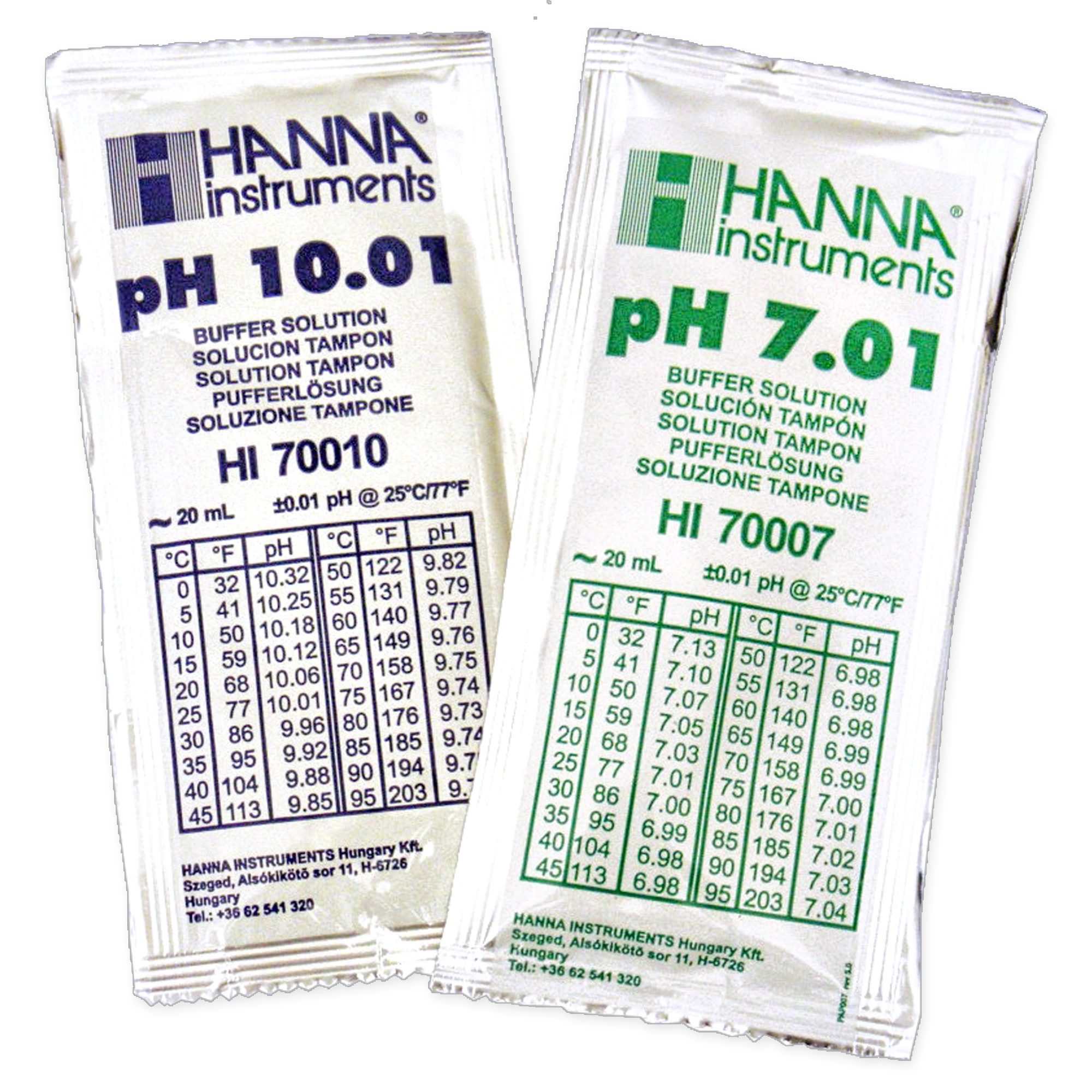 Buffer solution pH 7 and pH 10 Image