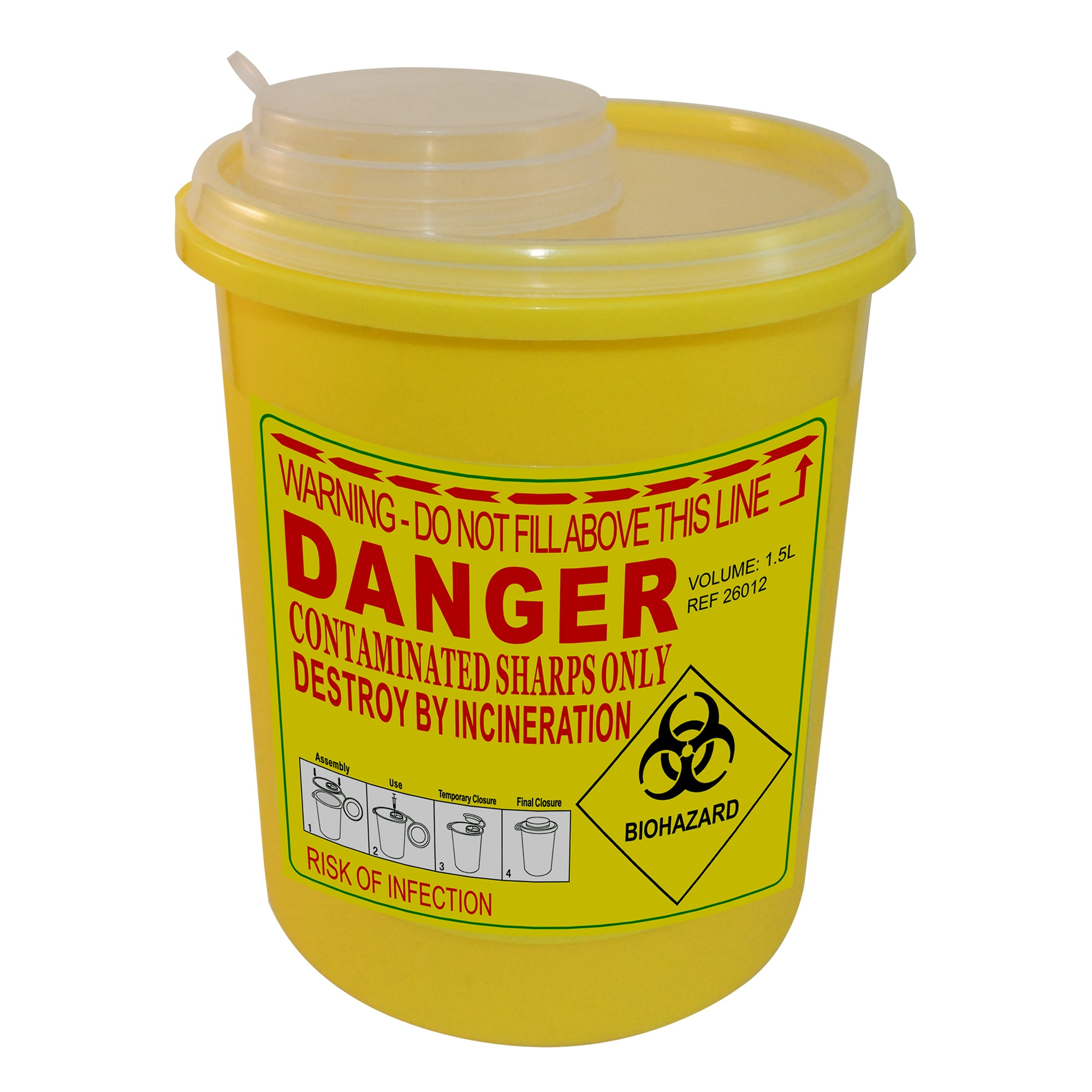 Disposable sharps container Image