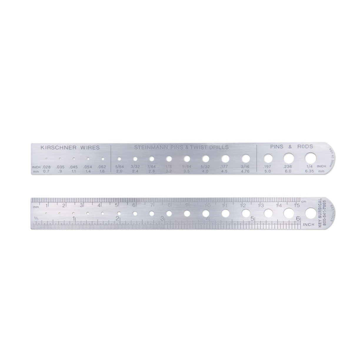 K-Wire Ruler and Pin Gauge Image